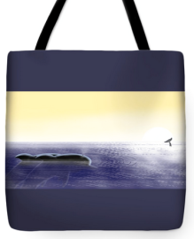 The paintings are available on tote bags & other productions. Click LINK TWO